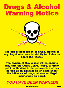 ISM-J39 Drugs & Alcohol Warning
