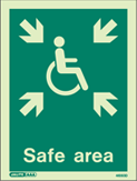 4650D - Jalite Safe Area Sign