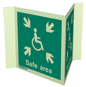 4650P20 - Jalite Safe Area Sign