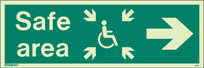 4652U - Jalite Safe Area Sign