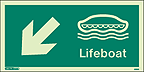 4692G - Jalite Lifeboat Arrow Down Left Sign - IMPA Code: 33.4306 - ISSA Code: 47.543.06