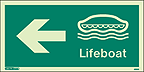 4693G - Jalite Lifeboat Arrow Left Sign - IMPA Code: 33.4304 - ISSA Code: 47.543.04