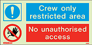 5588G - Jalite Crew only restricted area No unauthorised access