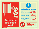 6394D - Jalite Automatic Fire Hose Reel Sign