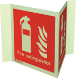 6490P15 - Jalite Fire Extinguisher Location Sign