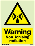 7018D - Jalite Warning Non-ionising radiation