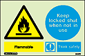 7430Y - Jalite Flammable, Keep locked shut when not in use