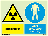7480D - Jalite Warning Radioactive Wear protective clothing