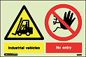 7510Y - Jalite Warning Industrial vehicles No entry