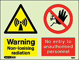 7592D - Jalite Warning Non-ionising radiation No entry to unauthorised personnel