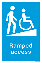 WX9006DD - Jalite Ramped Access Sign